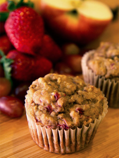 Banana-Strawberry-Apple-Grape-Muffins